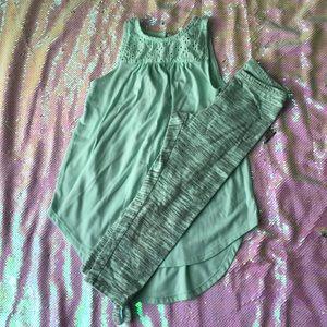 Old Navy tunic + leggings- size 6/7